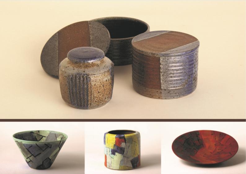 Saltglaseret stentøj, begittet stentøj, skål, cylinder og fad – diameter: ca. 30 cm
